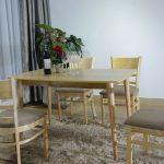 thiết kế bàn ăn hiện đại dễ dàng kết hợp với không gian nội thất