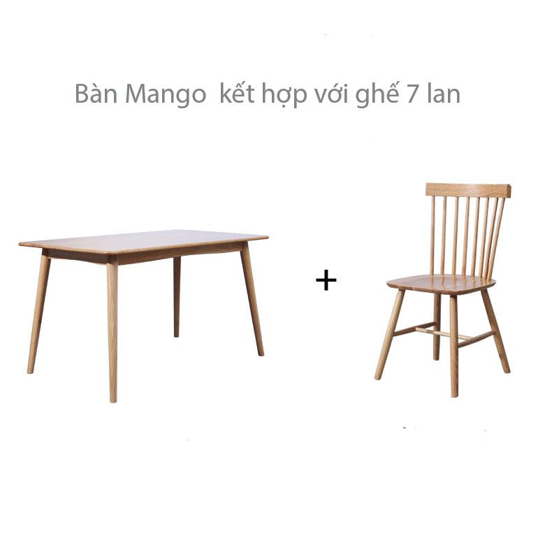 bàn có khả năng kết hợp với nhiều loại ghế ăn khác nhau