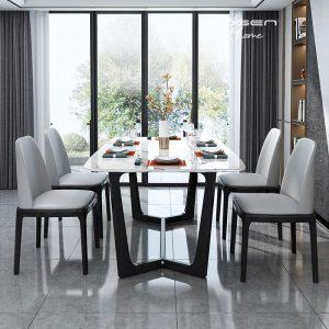 bộ bàn ăn mặt đá Ruby 4 ghế grace