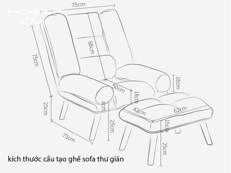 kích thước tiêu chuẩn ghế