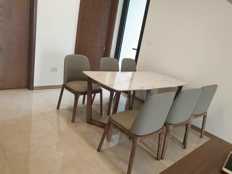 Bộ 6 ghế grace với bàn ăn mặt đá