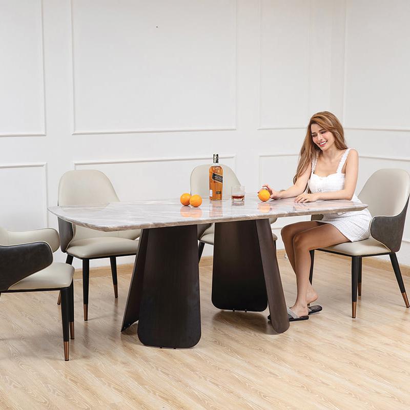 thiết kế kích thước bàn 6 người ngồi ăn