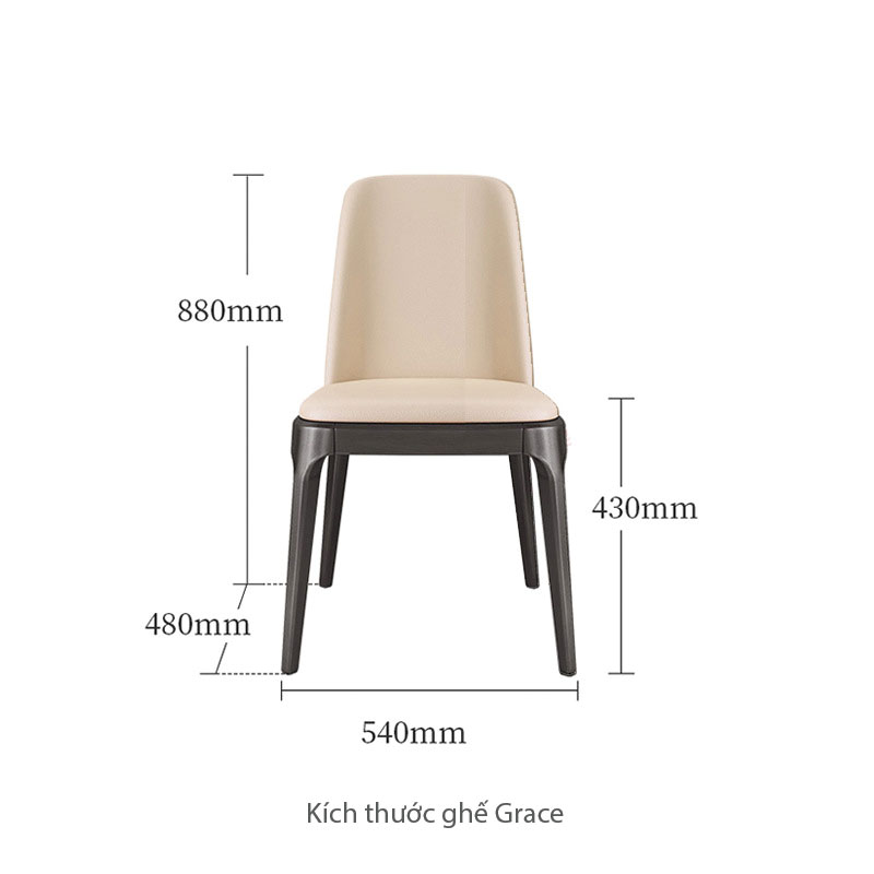 Kích thước ghế grace