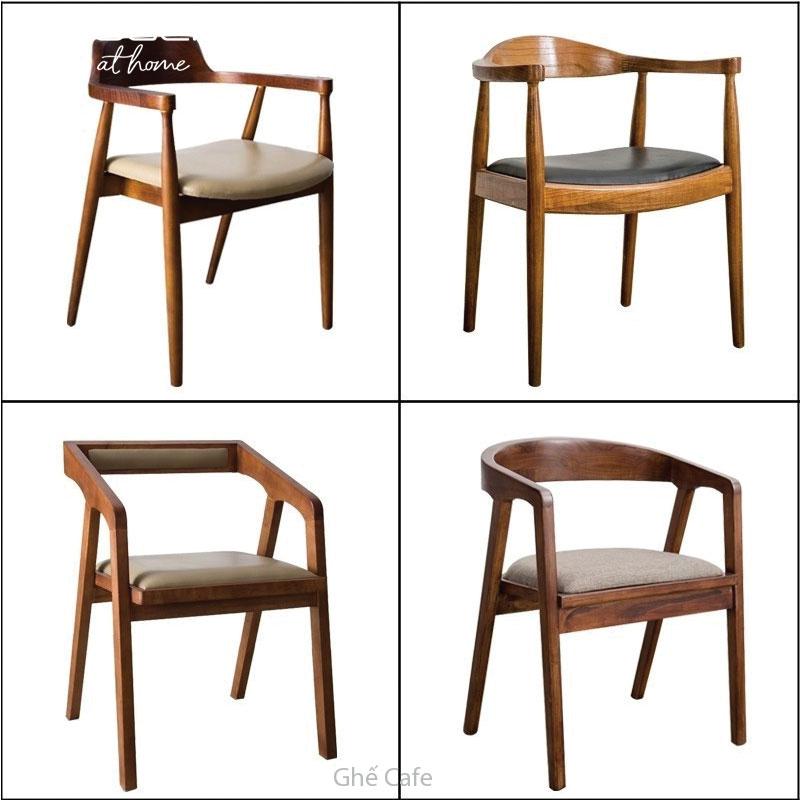 những mẫu ghế cafe gỗ đẹp sang trọng