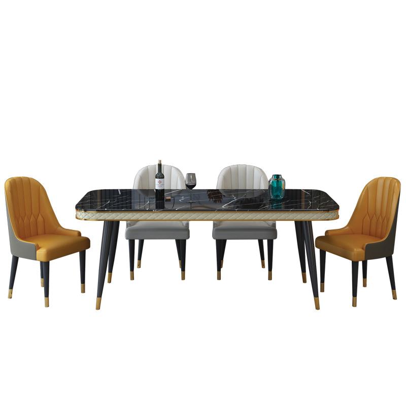 bàn sử dụng mặt đá đen sang trọng