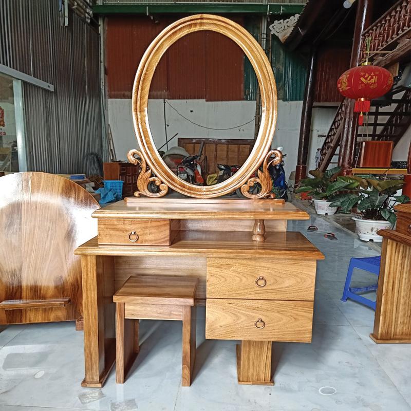 bàn phấn gỗ hương đá kích thước 1m