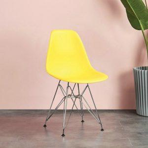 Ghế Nhựa Eames Chân Inox