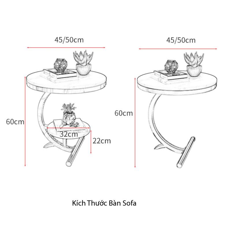 kích thước của bàn