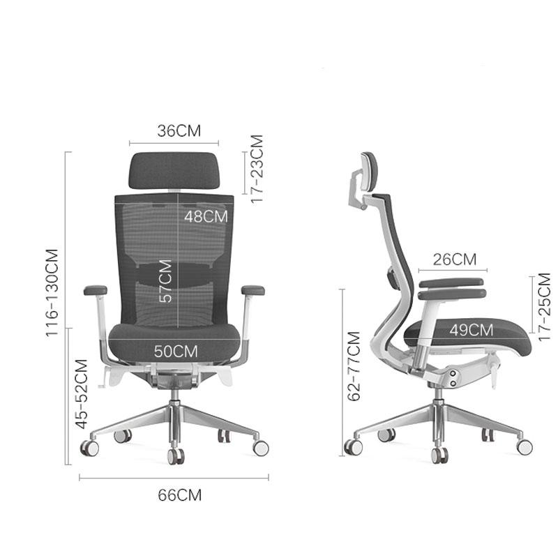 kích thước ghế giám đốc văn phòng