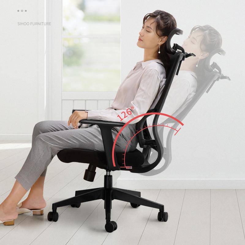 thiết kế ghế văn phòng ngả lưng an toàn chống gù lưng