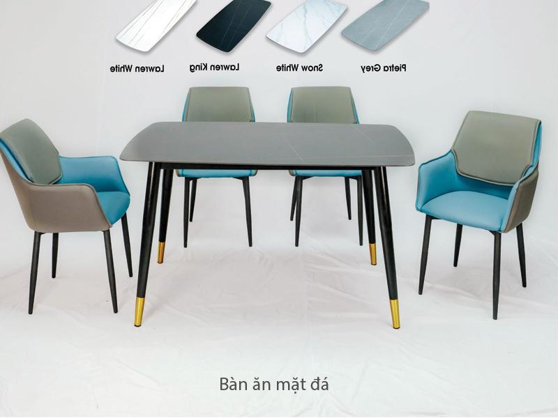 mẫu bàn ăn 4 ghế khung thép sơn tĩnh điện