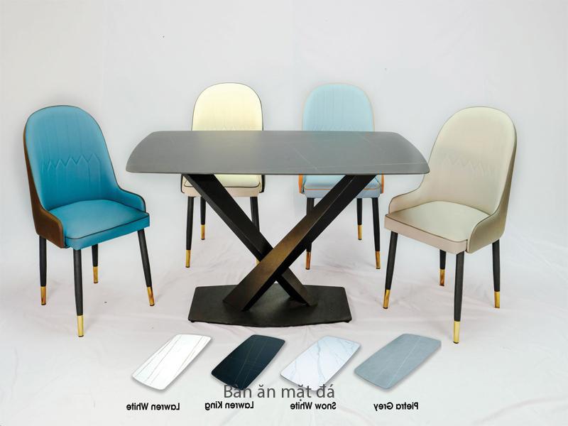 bộ bàn 4 ghế ceramic khung thép sơn tĩnh điện
