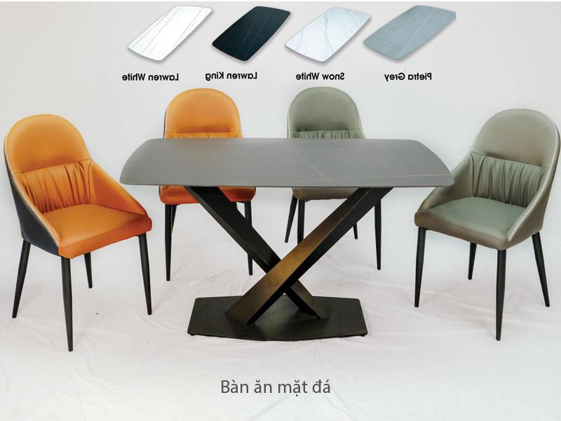 bộ bàn mặt đá 4 ghế