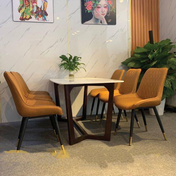 mầu bàn mặt đá 6 ghế loft nhập khẩu