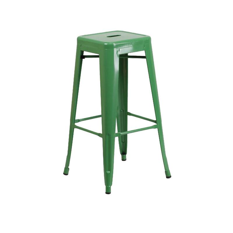 ghế tolix bar sơn màu xanh