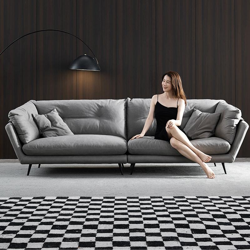 Sofa da phòng khách nhỏ