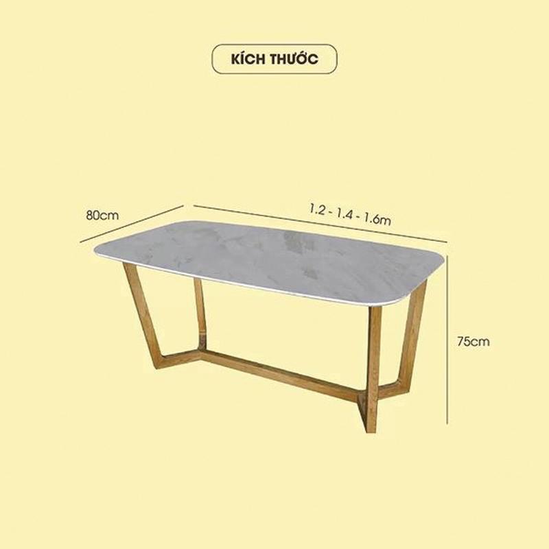 kích thước bàn dài 1m6