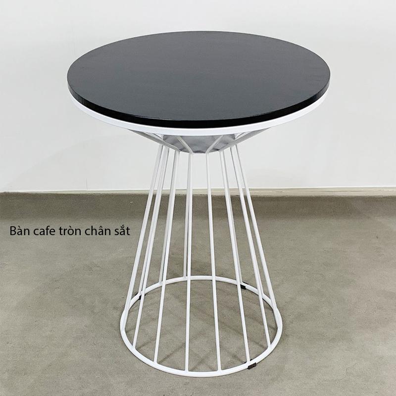 bàn tròn cafe chân lồng chim