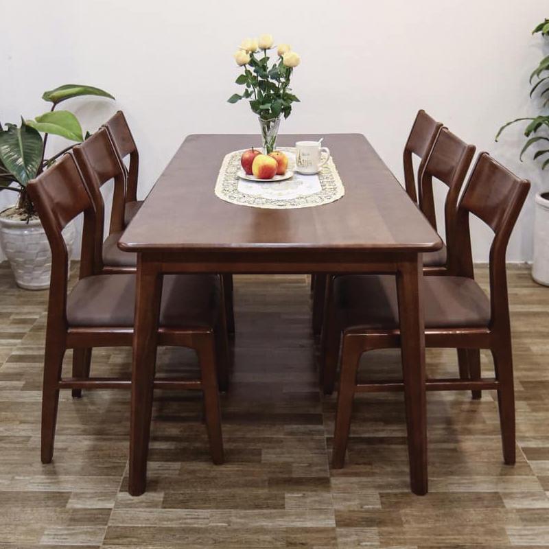 bàn ăn 6 ghế 1m4