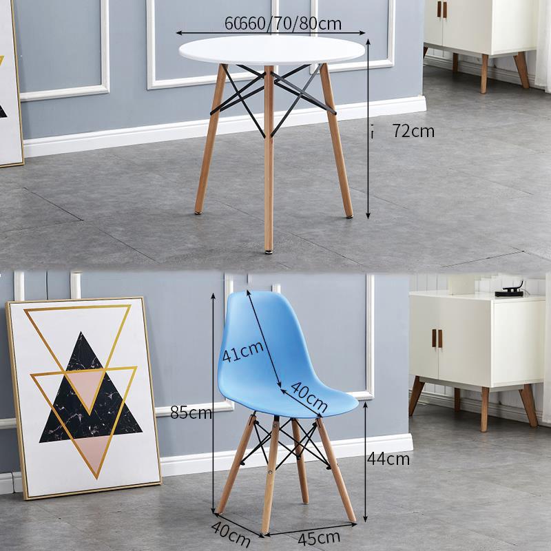 kích thước bàn tròn và ghế