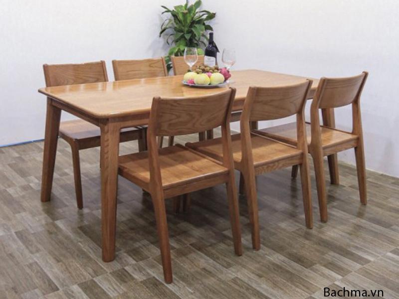 Mẫu bàn ăn gỗ sồi nga dài 1m4