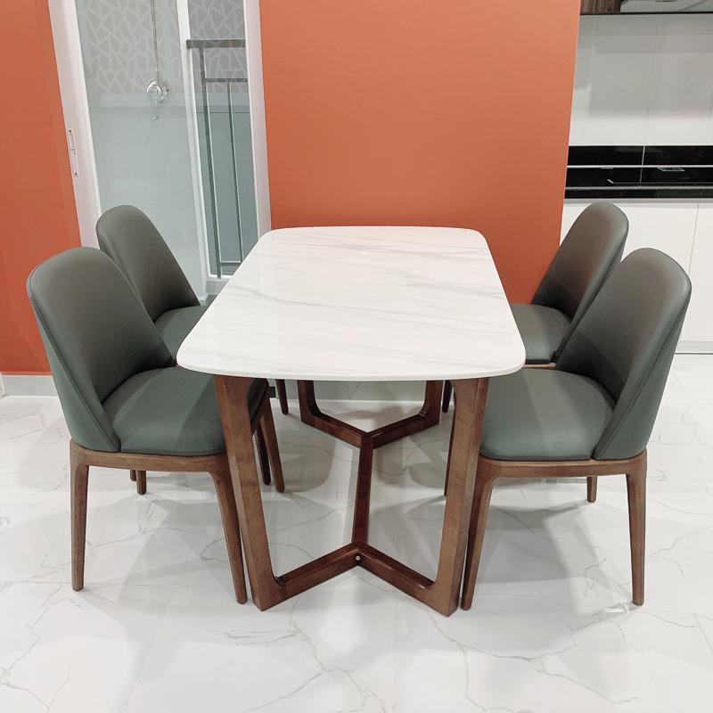 hình ảnh thực tế bộ bàn ăn 4 ghế