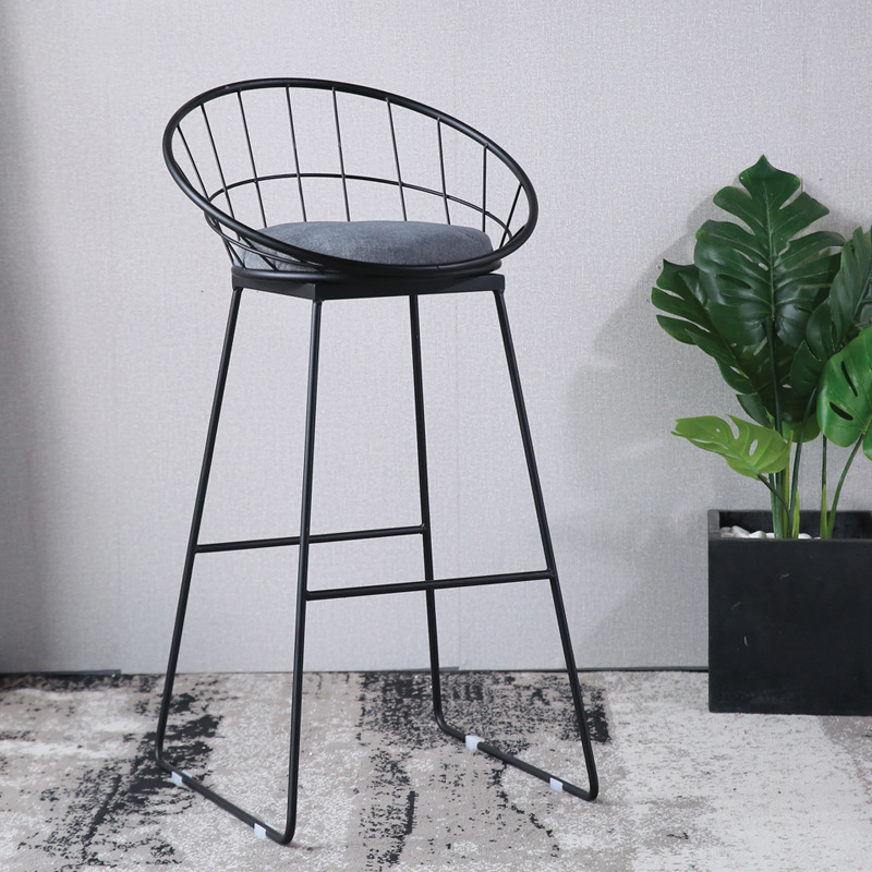 ghế bar stools sơn tĩnh điện màu đen