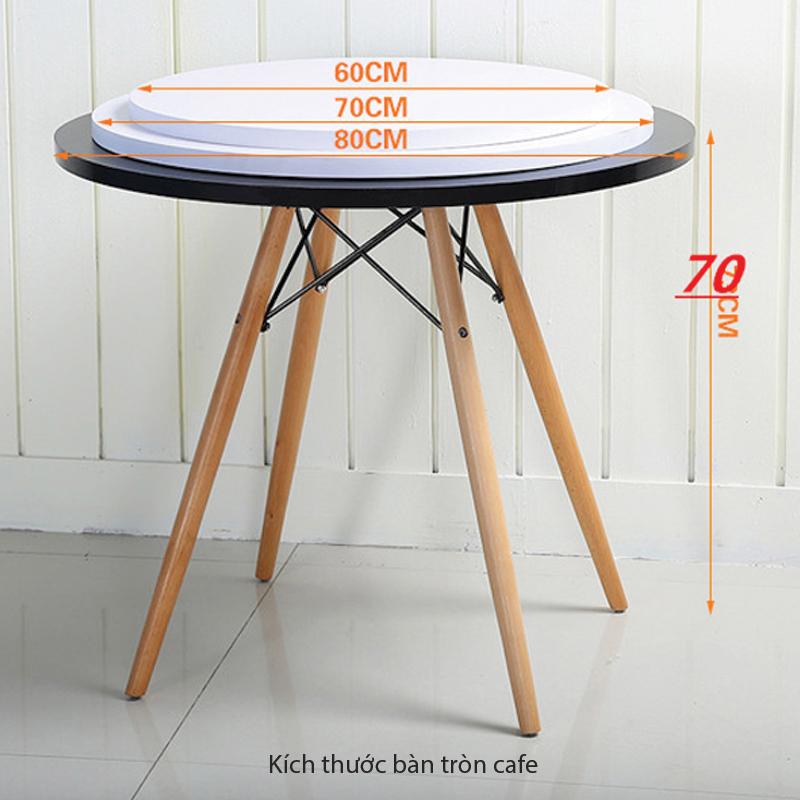 kích thước bàn tròn cafe