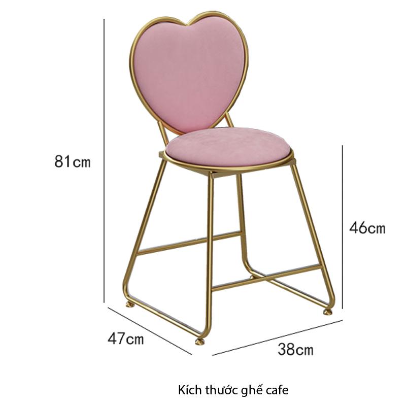 Kích thước ghế cafe
