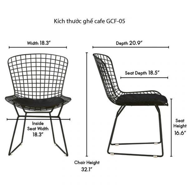 thông số kích thước ghế