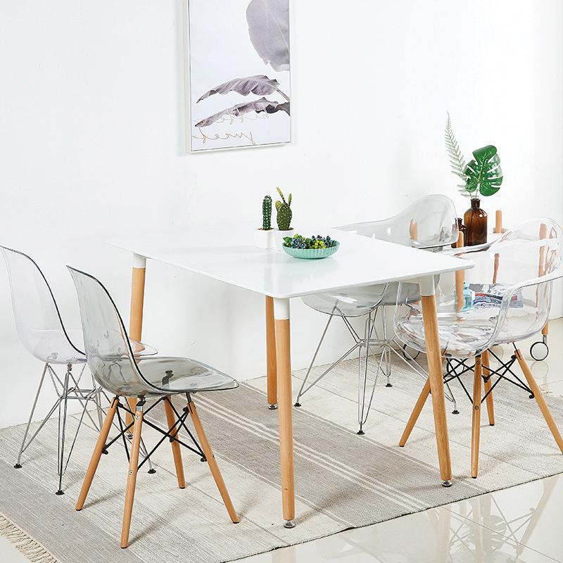 Bộ bàn ăn 4 ghế trong suốt