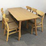 bộ bàn ăn mango 6 ghế ảnh thực tế