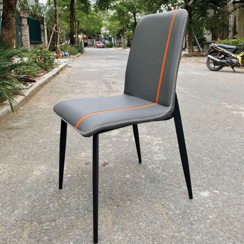 ghế màu ghi đường may ghế zena