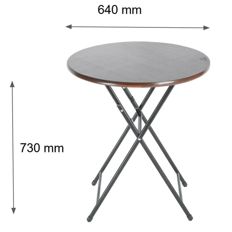 Kích thước bàn cafe tròn xếp gọn