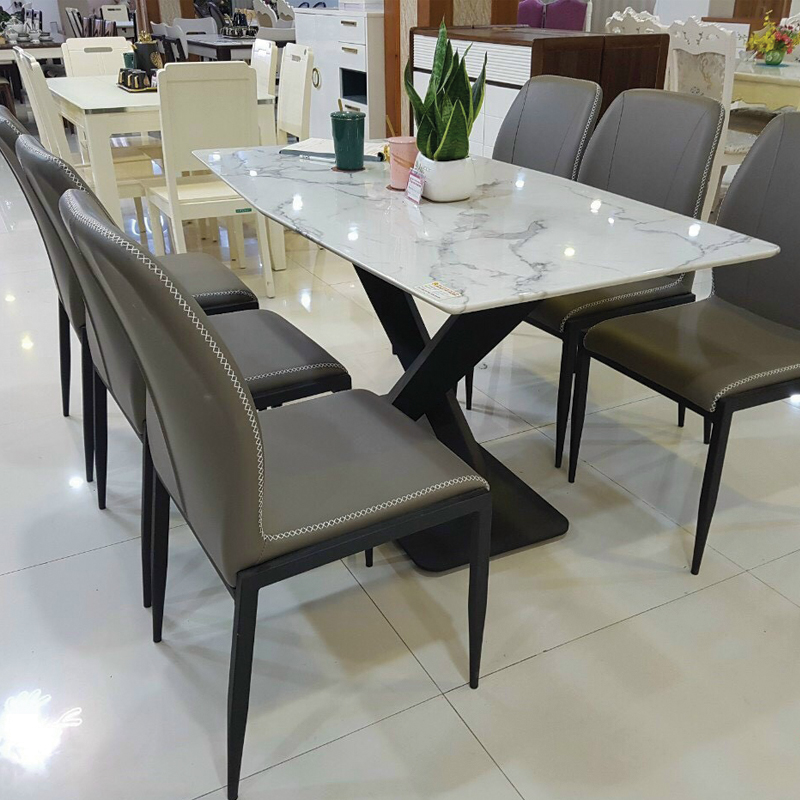 mẫu 6 ghế chân sắt
