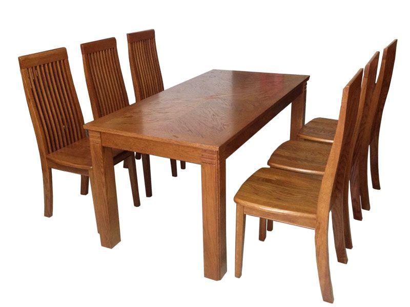Hãy đến những địa chỉ uy tín để mua bàn ăn gỗ sồi 6 ghế.