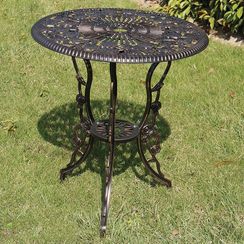 bàn nhôm đúc sân vườn