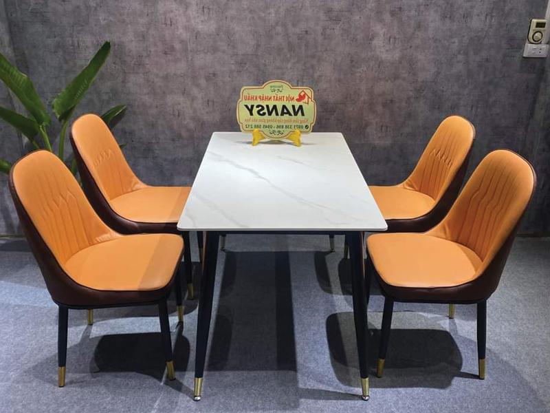 Bộ 4 ghế Monet cam đẹp nhập khẩu