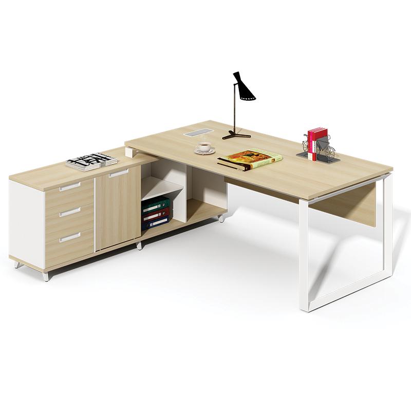 bàn khung sắt kết hợp tủ hộc tài liệu