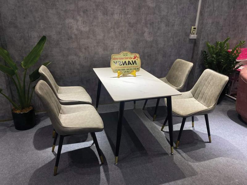 kích thước bộ bàn ăn 6 ghế