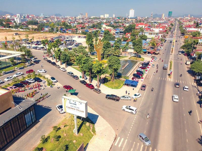 quan cảnh thành phố Thái Nguyên quanh dự án
