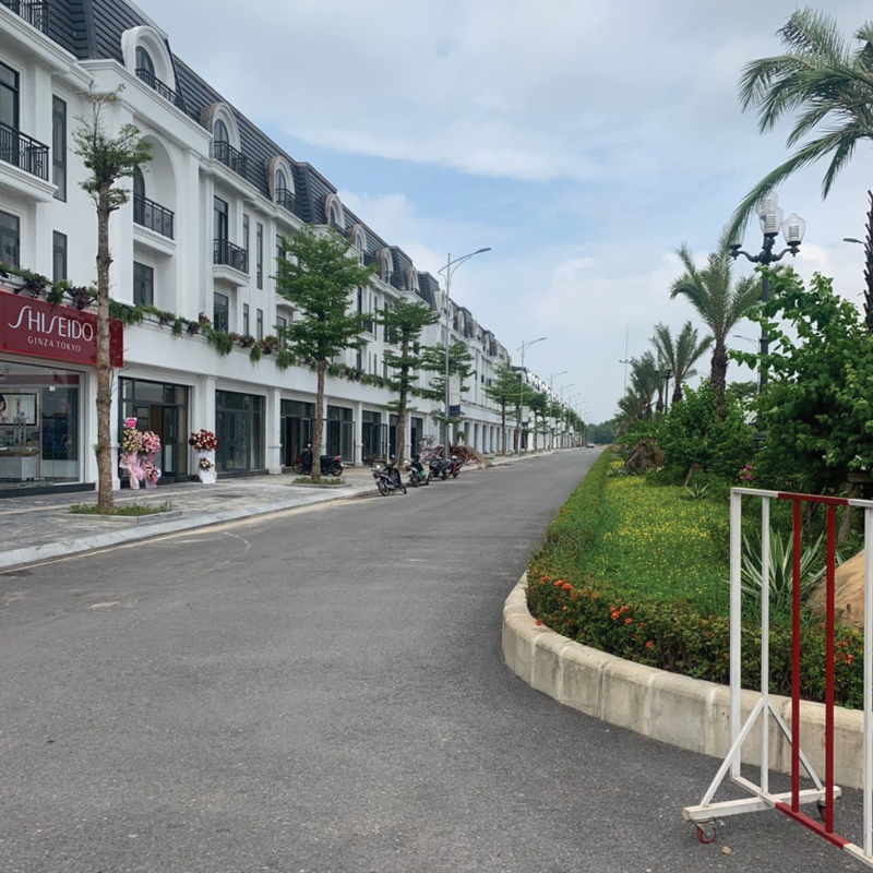 Khu vực nhà phân lô đã xây Crown Villas Thái Nguyên