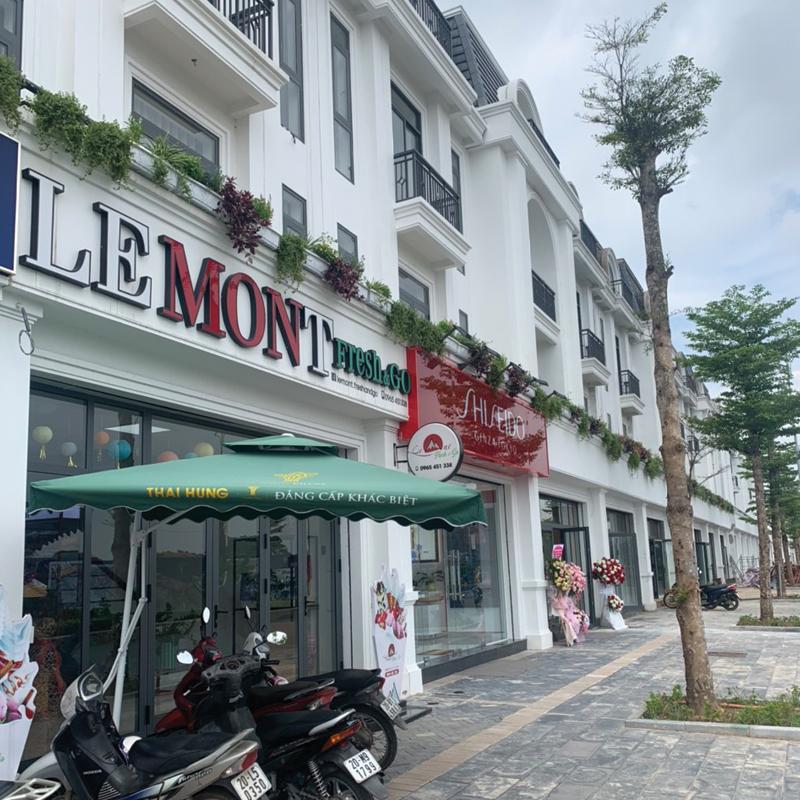khu quán cafe đã hoạt động Crown Villas Thái Nguyên