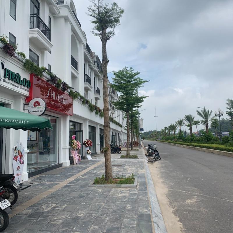 mặt bằng shop house iris Crown Villas Thái Nguyên