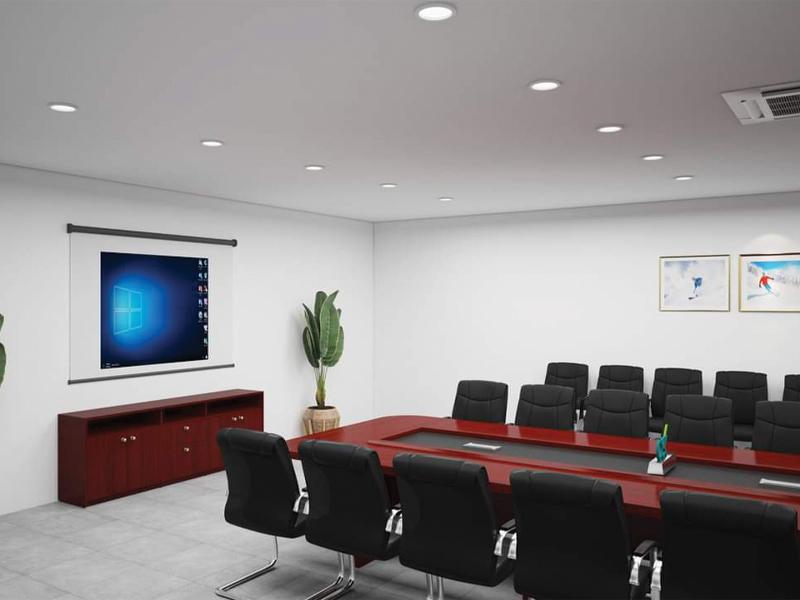 khu bàn họp kết hợp trình chiếu