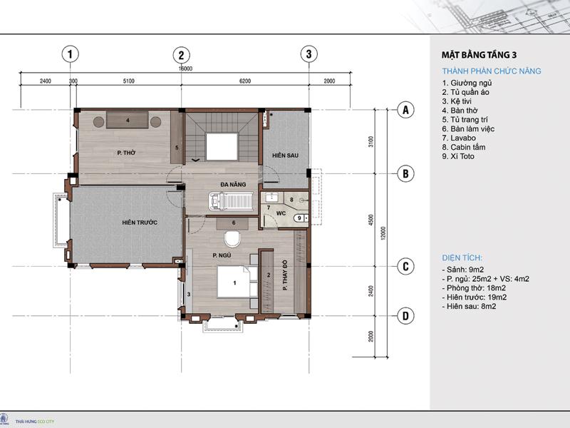 Thiết kế nội thất tầng 3