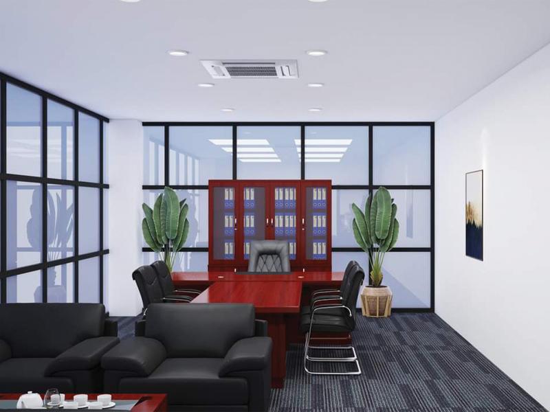 thiết kế nội thất bàn tổng giám đốc