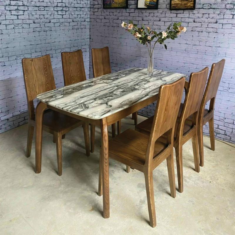 bộ khung bàn gỗ sồi