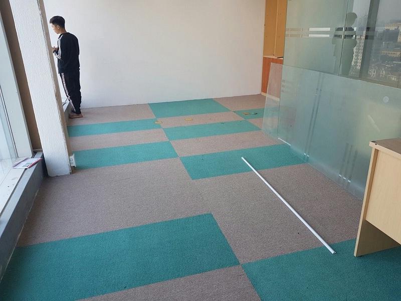 thi công lắp đặt thảm văn phòng