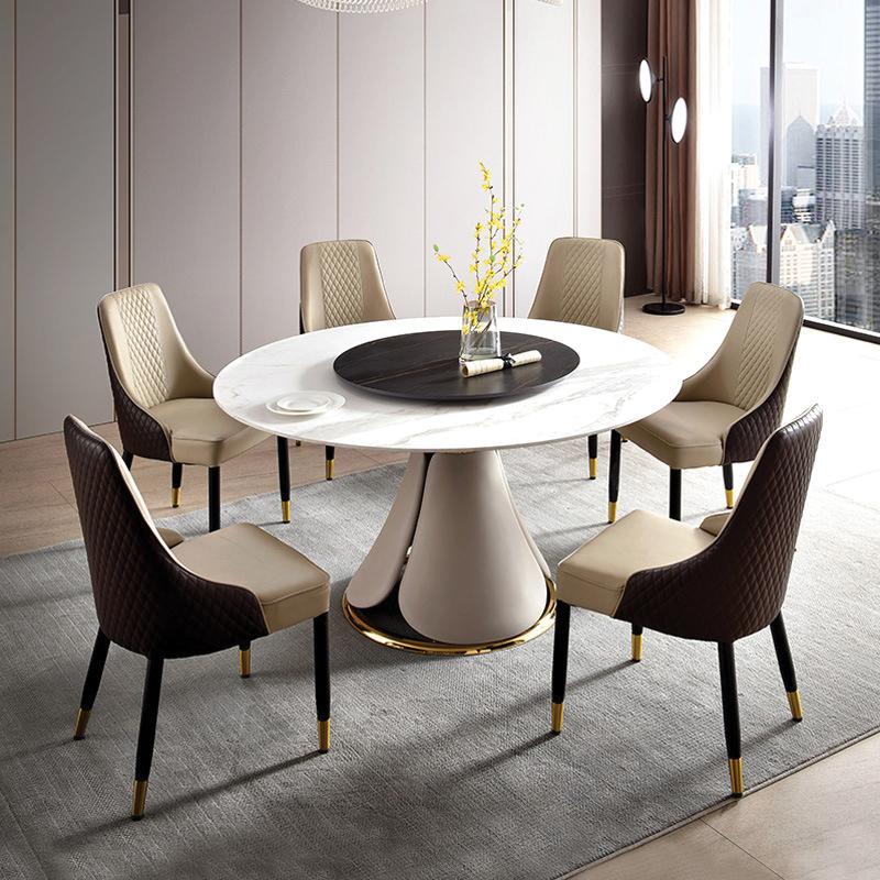 thiết kế mẫu bàn ăn tròn cho 6 người ăn cơm dòng nhập khẩu cao cấp
